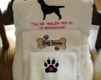 Labrador retriever bath accessories